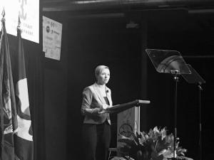 Grand Rapids Mayor Rosalynn Bliss delivers her third State of the City address Thursday at the Clearwater Place Event Center.