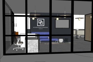 West Side GR development to house Interphase Interiors, Haworth showroom
