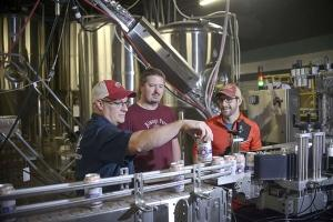 Pigeon Hill Brewing owners (l-r) Chad Doane, Joel Kamp and Michael Brower.