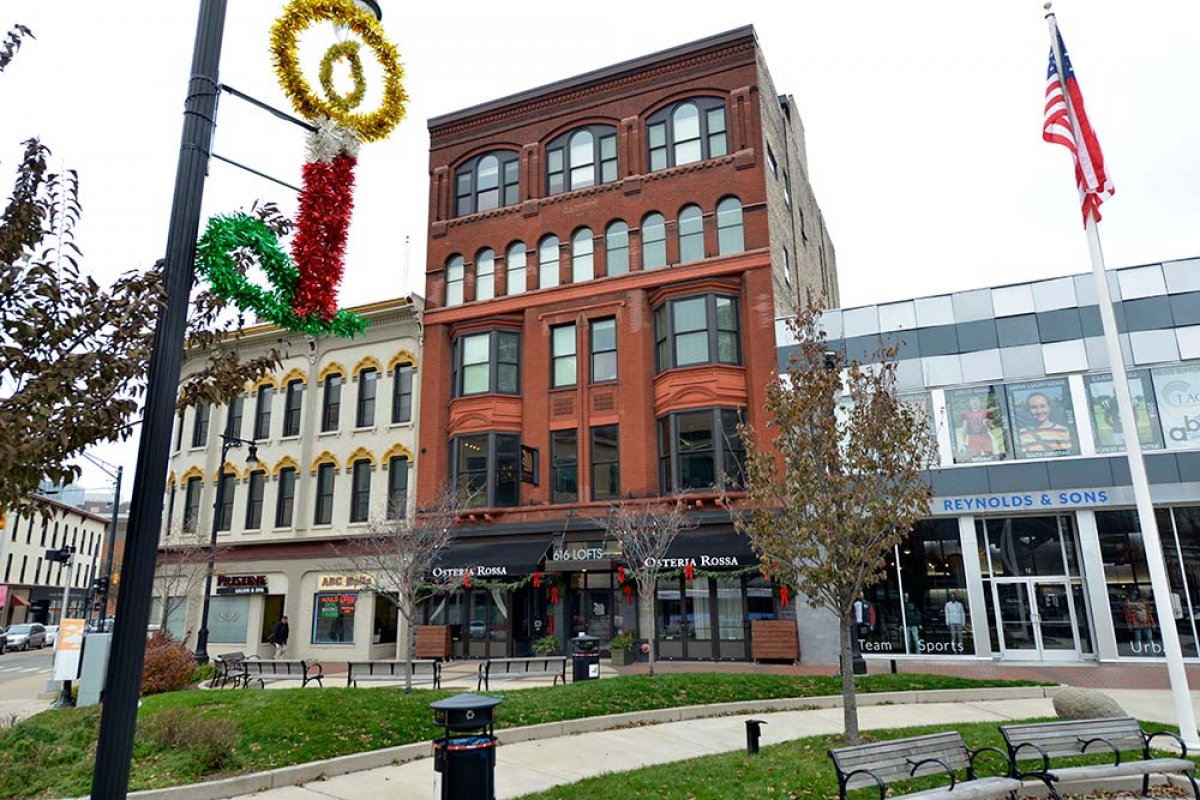 An affiliate of Waséyabek Development Co. LLC, the non-gaming arm of the Nottawaseppi Huron Band of the Potawatomi, has purchased the Kendall Building, center, for its headquarters in downtown Grand Rapids.
