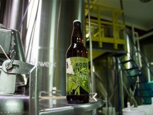 Short's Brewing recently added a bottling line to fill 22-ounce bottles, a new format for the company. Batch 5000, seen here, a triple IPA that will be released soon in limited quantities in Michigan, was the first beer off the line.