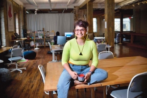 Alysha Lach White, founder of Little Space Studio co-working space in Grand Rapids, says business is slowly ramping back up, though finding financing for an expansion has been difficult.