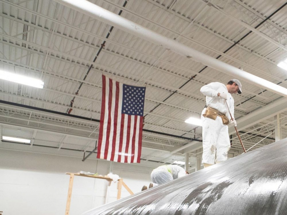 Composite Builders is building a new 75-foot America's Cup sailboat for Stars and Stripes Team USA