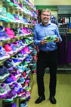 CRYSTAL BALL: Chris Lampen-Crowell, co-owner, Gazelle Sports