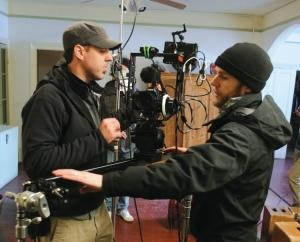 "Crew members working on the set of ""America's Most Haunted"""