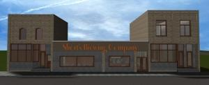 Rendering of the planned expansion of Short's Brewing Co. in Bellaire, Mich.