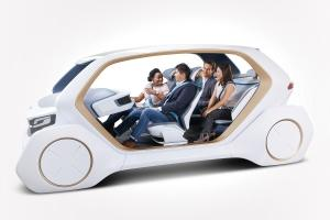 Adient showed its AI18 concept at the North American International Auto Show to highlight new seating technology that could come online in autonomous vehicles of the future.