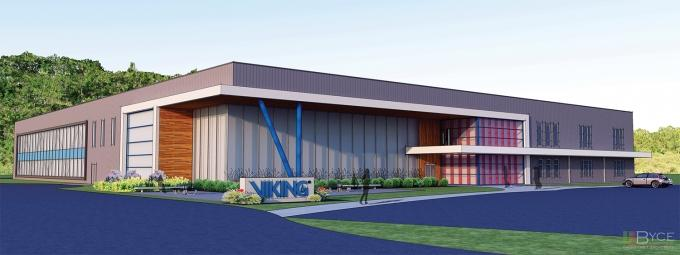 Viking Group Inc. plans to build a new headquarters, R&D and training facility in Caledonia Township to support growth in its fire suppression equipment business.