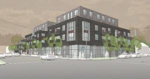Proposed Cherry Street Capital development on Lake Michigan Drive between Seward and Lexington avenues on Grand Rapids' west side.