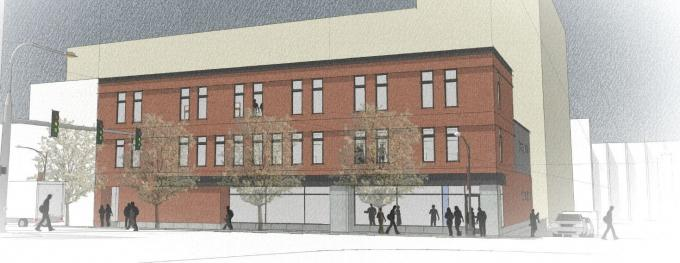Rockford Construction Co. and Sibsco plan a mixed-use development with 22 apartments for a long-vacant parcel south of downtown Grand Rapids at the southwest corner of Division Avenue and Weston Street.