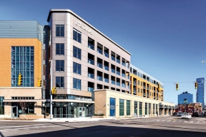 The Hendrik, a 116-unit apartment building built above Bridge Street Market on the west side of Grand Rapids, leased up the quickest of any property in Rockford Construction's portfolio, according to executives.