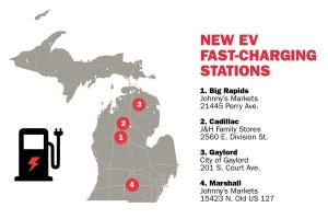 Four electric vehicle fast-charging stations now operating under utility rebate program
