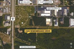 Site of Port City Industrial Park expansion