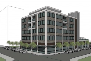 Core Development plans to develop at least 40 market-rate apartments with underground parking in downtown Muskegon at the former Ameribank building.