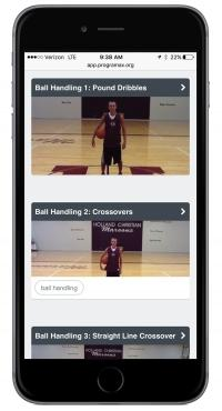 The Programax app developed by Holland-based JMBP Ventures allows coaches to load customized videos for off-season skills drills and strength and conditioning workouts for their players.
