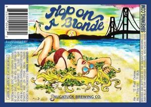 Saugatuck Brewing Co. discontinued its Hop on a Blonde brand in part because the beer's label did not fit with the company's family-friendly messaging, according to Vice President Kerry O'Donohue.