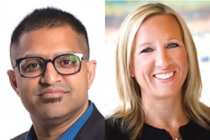 Left: Dr. Rakesh Pai, right: Tina Freese Decker