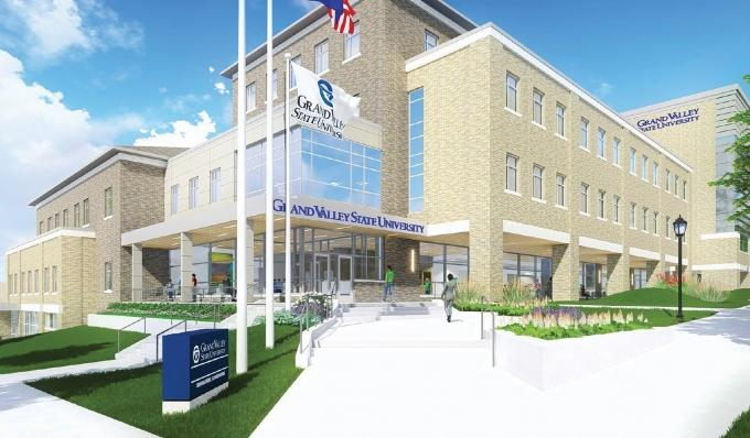 Grand Valley State University's planned Health Campus — dubbed the Raleigh J. Finkelstein Hall after the capital campaign's lead donor — is expected to help the institution expand its growing medical curriculum. Scheduled to open in the spring of 2018, the $37.5 million facility will be located in Grand Rapids' Belknap neighborhood.