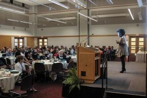 About 150 people attended a September presentation in Hudsonville sponsored by the Grand Rapids Encore chapter to discuss shared experiences regarding entrepreneurship.