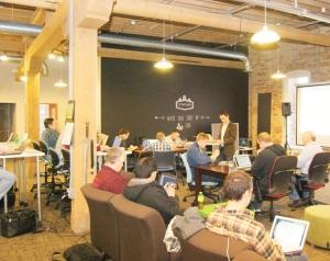 The Factory, a tech-centric co-working space in Grand Rapids.