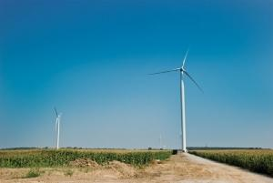 The cost of renewable energy from solar and wind projects, like the one shown here in Michigan's Gratiot County, continues to come down and in some cases has reached parity with traditional fossil fuel sources.