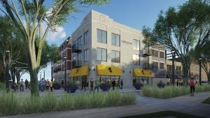 The Epicurean Village concept proposed by Kim Van Kampen aims to bring walkability and spur new development in downtown Spring Lake.
