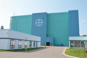 The Bayer CropScience facility at 1740 Whitehall Road in Muskegon Township is part of a business line that parent company Bayer AG will need to divest to secure regulatory approval for its $66 billion acquisition of Monsanto Co. The facility produces the Liberty herbicide.