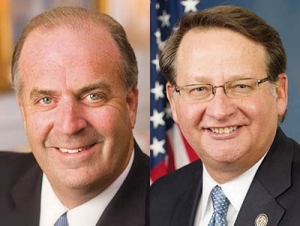 Rep. Dan Kildee, D-Flint (left) and Sen. Gary Peters, D-Mich (right)